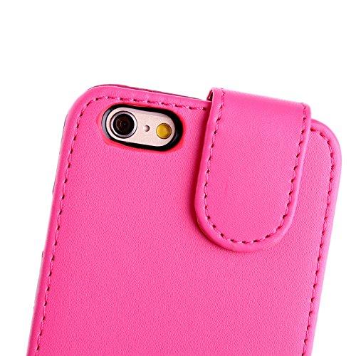 Apple iPhone 6 TPU Gel Case - Blau Apple iPhone 6 Tasche Flip Case Leder Cover Schutz Hülle Etui Schale - thinkmobile Heiß Pink Flip