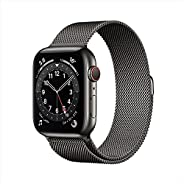 AppleWatch Series 6 (GPS + Cellular, 44mm) - Graphite Stainless Steel Case with Graphite Milanese Loop