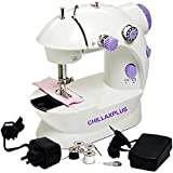 Chillaxplus Portable 4 In 1 Mini Sewing Machine With Adapter And Foot Pedal,White