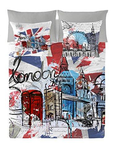 NATURALS Funda NÓRDICA London Graphic Cama 90 2 PCS