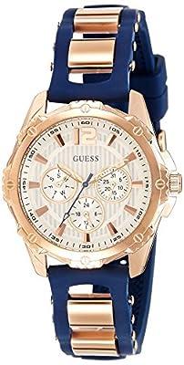 Guess W0325L8 - Reloj de pulsera para mujer, color blanco / plata