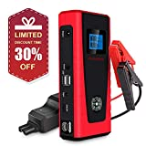 Ultrasafe Car Jump Starter 600A Peak 12000mAh PUSHIDUN Portable Car Battery with Jumper