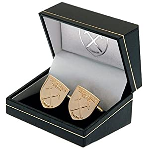 West Ham United F.C. Gold Plated Cufflinks Official Merchandise by West Ham United