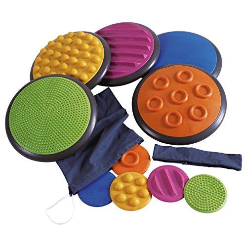Preisvergleich Produktbild Taktile Scheiben Komplett-Set, Sinnestrainer, Fühlspiel, Tastspiel, 10-tlg.