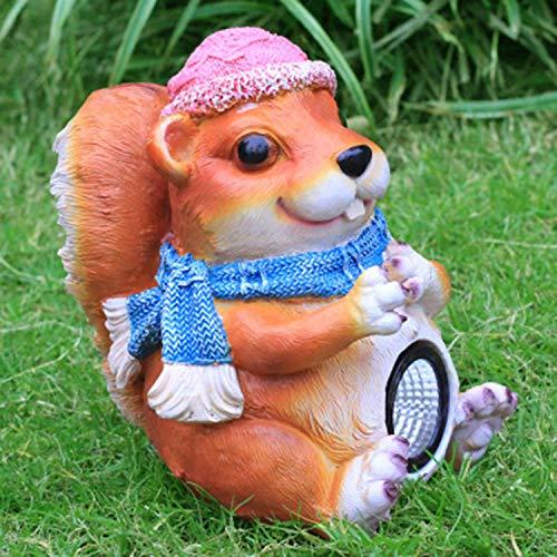 LOVEPET Simulierte Fiberglas-Tierskulptur Sonnenlicht Für Eichhörnchen Im Freien Eichhörnchen Gartendekoration Gartengrasverzierung (Eichhörnchen-montage-kit)