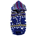 Generic Dog Hooded Sweater Knit Apparel Clothes - XL
