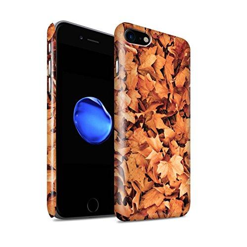 STUFF4 Glanz Snap-On Hülle / Case für Apple iPhone 8 / Gemischt/Violett Muster / Herbstblätter Kollektion Sykomore/Golden