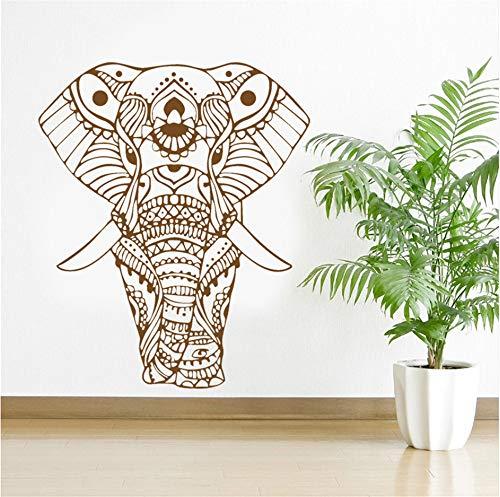 Meaosyy Mandala Yoga Ornament Indische Buddha Gott Elefant Wandaufkleber Wohnkultur Kunst Wohnzimmer Vinyl Wandbild Removable
