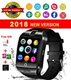 Montre Connectée, Bluetooth Smart Watch Etanche Montre Intelligente avec Caméra Supporte SIM TF Carte, Pédomètre, Facebook, Whatsapp, Montre Téléphone Sports Bracelet Wrist Watch Smartwatch compatible Android Samsung Huawei Sony IOS Apple iPhone 6s 7 7s 8 x Plus pour Femmes Homme Enfant