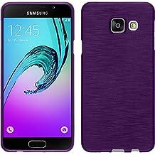 Funda de silicona para Samsung Galaxy A3 (2016) A310 - brushed púrpura - Cover PhoneNatic Cubierta + protector de pantalla