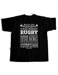 Tee shirt humour Règle RUGBY