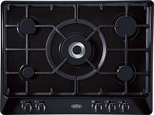 Belling GHU70GC – Plate (Built-in, Gas, Electric Induction, Ceramic, Rotary, 68 cm, 50 cm) Black