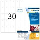 Herma 8046 Warenanhänger reißfest  (35 x 59,4 mm auf DIN A4 Bogen, aus Papier-Folie-Papier-Verbund, perforiert, nicht klebend) 3.000 Stück, weiß, PC-bedruckbar