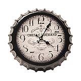 Crown Bottle Cap Retro Wanduhr Adornment Bracket Clock Silent-Wand-Dekor I