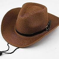 Yiwa Hombres/Niños Sombrero de sombrilla de Alero Grande Sombrero de Paja Sombrero de Paja