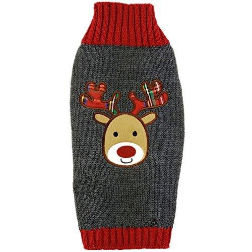 t Hund Pullover Apparel, M, Grey Deer ()