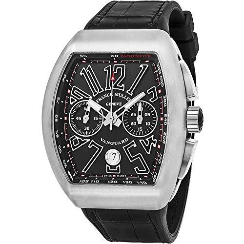 Franck Muller Vanguard Herren-Armbanduhr Armband Leder Automatik 45CCNRNR