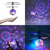 RC Fliegender Ball Flying Ball Spielzeug Infrarot-Induktions-Hubschrauber Drohne mit bunt leuchtendem LED-Licht und Fernbedienung Geschenke für Jungen Mädchen
