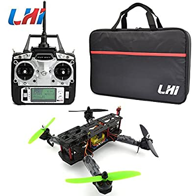 LHI Full Carbon Fiber 250 mm Quadcopter Race Copter Racing Drone Frame Kit + CC3D Flight Controller + MT2204 2300KV Brushless Motor + Simonk 12A ESC Brushless Speed Controller + 5030 Propeller+ FlySky FS-T6 for FPV (Assembled)
