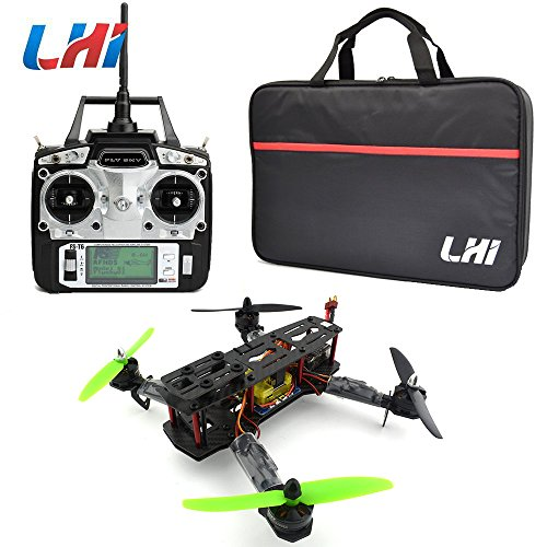 LHI Full Carbon Fiber 250 mm Quadcopter Race Copter Racing Drone Frame Kit+ CC3D Flight Controller + MT2204 2300KV Brushless Motor + Simonk 12A ESC Brushless Speed Controller + 5030 Propeller+ FlySky FS-T6 for FPV (Assembled)