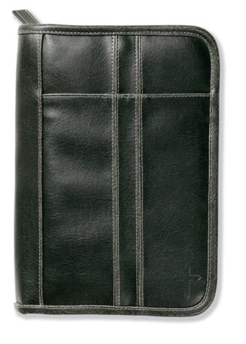 Distressed Leather-Look Black with Stitching Accent Med