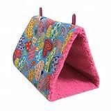 Winter Warm Bird Nest Haus Hütte für Parrot Wellensittiche Sittiche Nymphensittiche Kakadu Kanarischen Unzertrennliche Aufhängen, Triangle Höhle Käfig Spielzeug