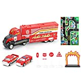 Siyushop Trasporto Truck Toy, Camion dei Pompieri Toy Stunning Toy Truck, Truck Tunnel Game Toy - Great Gift Toys Kids (Color : Fire Truck Upgrade Paragraph)