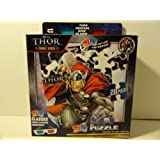 Marvel Thor 28 Piece Jigsaw 3D Puzzle Includes 3D Glasses by Super Hero Squad
