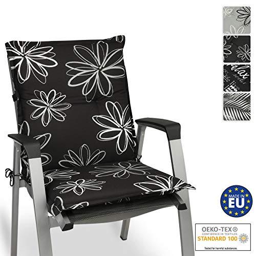 Beautissu Flores Niedriglehner Auflage für Gartenstuhl 100x50 cm - Bequemes Sitzkissen Polsterauflage UV-Lichtecht - weitere Designs erhältlich