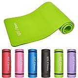S/O® Yogamatte 6 Farben Yogamatten 190 x 60x 1,5cm Yoga Joga Matten Gymnastikmatte schadstoffgeprüft Pilatismatte Pilatis Matte Fittnessmatte Jogamatte, Farbe:Grün
