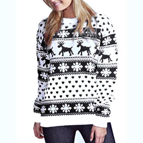 Ninasill Weihnachten Sweatshirt, Exklusive Florale Print Lange Ärmel -