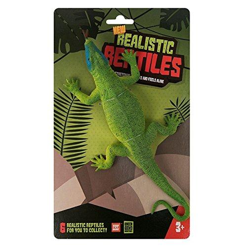 Green Geko wdx92737-greenblueface Komodo Dragon Realistische und Elastisches Gummi Reptile Spielzeug