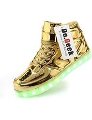 DoGeek Unisexprimavera Light Led para arriba los zapatos zapatillas de deporte transpirable para Adultos y Adolescentes