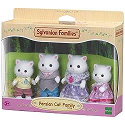 Sylvanian Families - 5216 - Famille Chat Persan - Mini Poupée