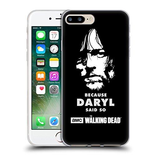 Offizielle AMC The Walking Dead Überleben Glas Typografie Soft Gel Hülle für Apple iPhone 6 Plus / 6s Plus Daryl Sagt