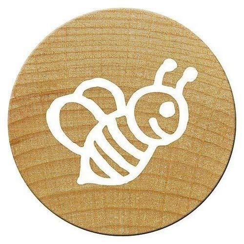 Woodies Holz Mini-Stempelkissen, Bee, 1,5x 1,5x 3cm