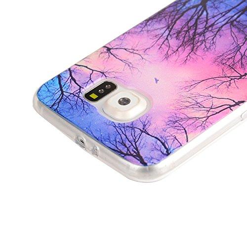 TPU Souple Etui Gel Léger Ultra Slim Flexible Anti Rayures Couverture Couverture de Protection Anti, Coque Cristal pour Samsung Galaxy S6 Edge Plus Slim Coque Housse Etui +Bouchons de poussière (7QQ) 5