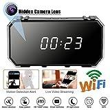 ETbotu Réveil Caméra 4K 1080P WiFi HD Miroir sans Fil avec Vision Nocturne