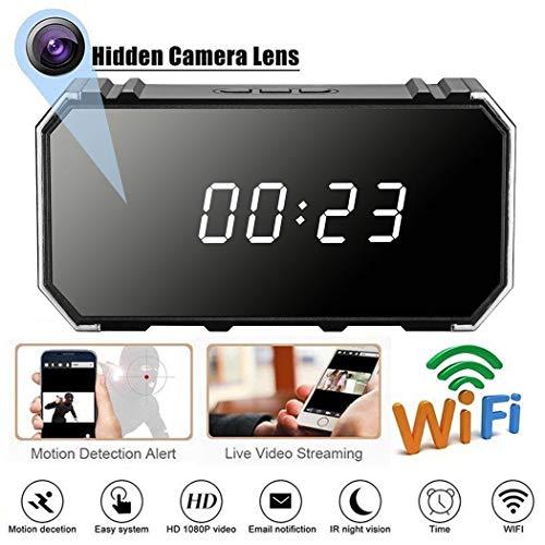 Descripción:   Tipo de artículo: reloj despertador de cámara.   Soporta grabación y carga al mismo tiempo.   Resolución de vídeo: 1280 x 1080P.   Frecuencia de marco de vídeo: 30 fps.   Formato de vídeo: AVI   El paquete incluye:   1 cámara...