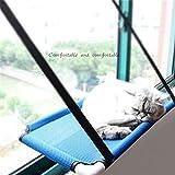 SUNWUKONG Zsypet Cat Sunny Fenster Sitz Hängematte Hängebett mit Sauger - Cat Kitten Sunbathe Sofa Entspannende Plattform für Haustier Cat Breathable Mesh für den Sommer