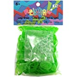 Official Rainbow Loom 600 Lime Jelly Refill Bands w/ C Clips