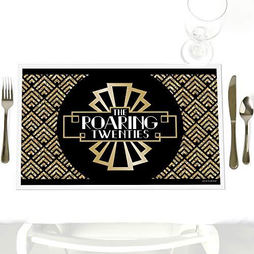 Big Dot of Happiness Roaring 20er Party-Tischsets - 20er Jahre Art Deco Jazz Party Tischsets - Set von 12 (Great Gatsby-party Dekorationen)