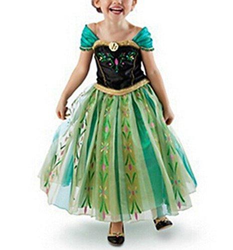 Beunique® Prinzessin Kostüm Kinder Glanz Kleid Mädchen Weihnachten Verkleidung Karneval Party Halloween (Das Halloween Jährigen Jungen Niedliche Kostüme)