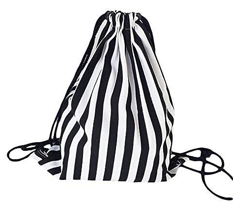 westeng 1pcs Rucksack Leinwand Kordelzug Cinch Tasche Shopping Mode Freizeit Reisetasche für Frauen 34.5*40 cm Farbe 6