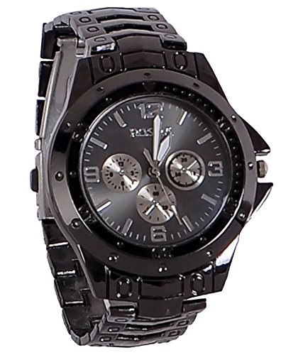 MaanFab Attractive chronograph Analogue Black Watch For Man  available at amazon for Rs.169