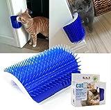 IshowStore Pet Spielzeug Katze Selbst Groomer Werkzeug Wand Ecke Massage Kamm Katze Kätzchen Fellpflege Haarentfernung Pinsel mit Katzenminze Tasche