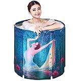 Fenfen Nicht Inflation faltende Isolierung Badewanne PVC-materielle Erwachsene Badewanne Großer starker Baby-Swimmingpool 27.6inches × 27.6inches