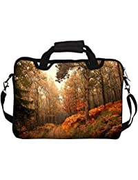 """Snoogg Smokey Forest 10"""" 10.5"""" 10.6"""" Inch Laptop Notebook SlipCase With Shoulder Strap Handle Sleeve Soft Case..."""