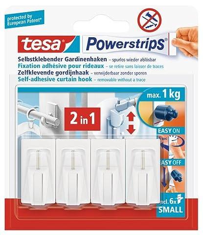 tesa UK Powerstrips Net Curtain Hooks with