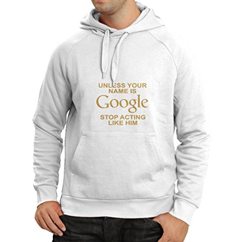 lepni.me 'N4080H Sudadera con Capucha I Don''t Need Google, my Wife Knows Everything Gift (Small Blanco Oro)'